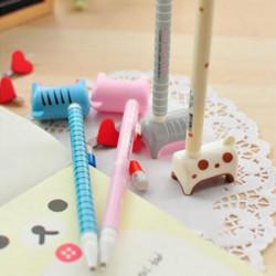 2 X Neuheit Briefpapier Esel Gel Kugelschreiber mit Basis für Kinder