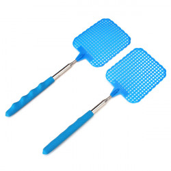 2pcs Adjustable Collapsible ABS & Stainless Fly Swatter Plastic Flapper