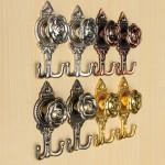 2pcs Zinc Alloy Peg Door Wall Bathroom Hanger Holder Hooks Housekeeping