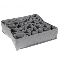 30 Cell Bamboo Charcoal Shorts Socks Drawer Closet Divider Storage Box
