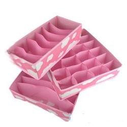 3stk Zipper Underwear Bras Strømper Slips Opbevaring Organized Boxes