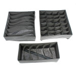 3stk Foldable Opbevaring Organizer Box for Undertøj Bra Sock Ties Husholdningsartikler