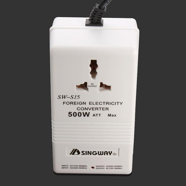 500 Watt 110/220V Bidirectional Electricity Converter AC Adapter Smart Home