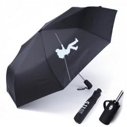 511 Helautomatisk Stor Vikbart Regn Sol Paraplyer