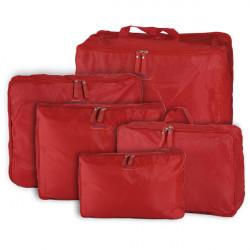 5stk Rejse Opbevaringspose Organizer Tøj Taskeage Kuffert
