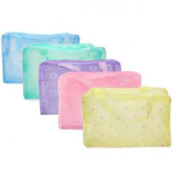 5stk Portable Transparent Vandtæt Plast Makeup Rejse til Bath Opbevaringstaske