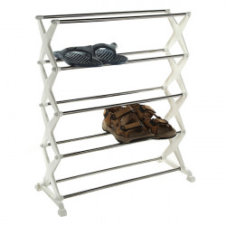 5 tier Foldable Stainless Steel Shoe Rack Shoes Storage