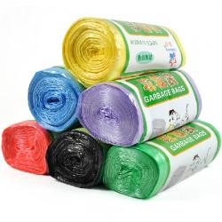6 Farver Fortykkelse High Quality Points Off Farvelagt Garbage Taske