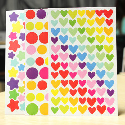 6 Ark Farverige Rainbow Sticker Dagbog Planner Journal Albums Foto