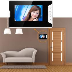 7 Inch Wired TFT LCD Video Door Phone Intercom 2 Monitors Doorbell