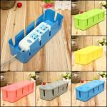 Anti-støv Sikker Socket Board Kabler Plug Opbevaring Box Container Husholdningsartikler