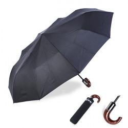 Automatisk Vikbart Vindtät Män Sol Regn Hook Handtag Paraply