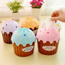 Cake Ice Cream Typ Bil Hem Handduks Mjukpapper Box Hållare
