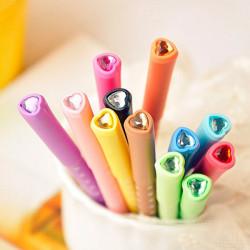 Candy Color  Diamond Love Polka Dot Unisex Pen