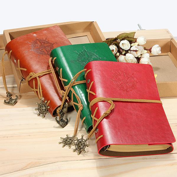 Classic Retro Weinlese Lederbuch Notizbuch Tagebuch Buch Bürobedarf