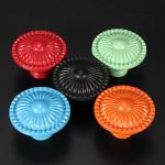 Colorful Flower Ceramic Knob Door Cabinet Cupboard Drawer Handle Housekeeping