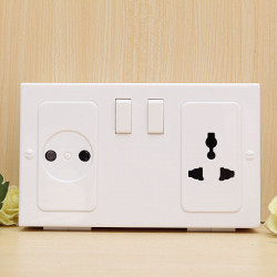 Cool Plug Væg Socket Safe Organizer Opbevaring Box