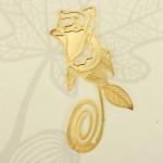 Creative Reading 18K Golden Rose Style Bookmark Stationery