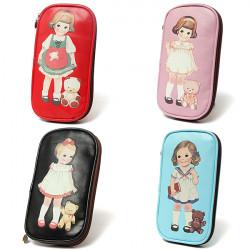 Nettes kleines Mädchen, Bleistift Kasten Beutel Briefpapier Kosmetiktaschen