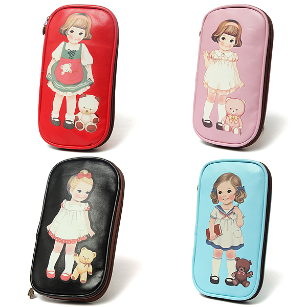 Cute Little Girl Pencil Case Bag Stationery Cosmetic Bags Stationery