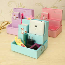 DIY Paper Board Opbevaring Box Stationery Makeup Kosmetiske Organizer