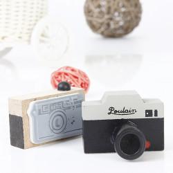 DIY Scrapbooking Album Vintage Wooden Camera Rubber Stamp
