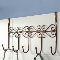 Euro Style Iron Art Back Dörr Hanger Krok Med 5 Hook 3 Färger