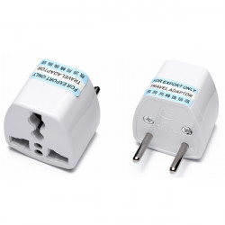 Europe Plug to Universal adapter 2 pins round pins Travel