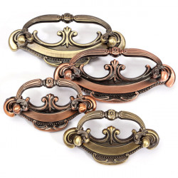 European Retro Style Red Green Bronze Drawer Handles Door Knobs