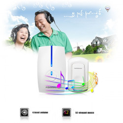 FX-G 300M 52Melodies Remote Control Wireless Doorbell Smart Home