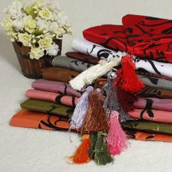 Flockning Damast Löpare Cloth Bröllop Dekoration