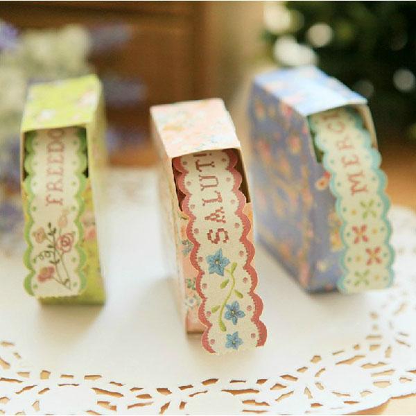 Blumenspitze Dekorpapier Band Sticker Farbige Dekorationsband Bürobedarf