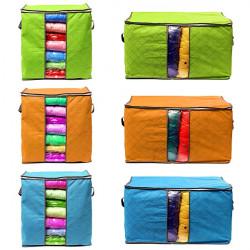 Sammenklappelig Bambus Trækul Ikke-Vævet Stof Tøj Blanket Opbevaringstaske