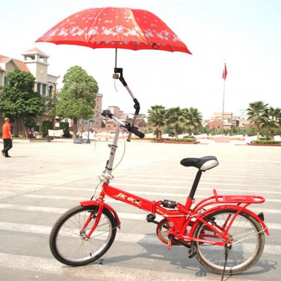 Folding Umbrella Bracket Hållar Står för Cykel Cykel 2021