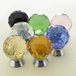 Glass Crystal Cabinet Drawer Knob Pull Door Handle Hardware 3cm Housekeeping