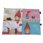 Korea Canvas Cartoon Hood Storage pencil Pouch Bag Makeup Bag New Stationery