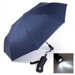 LED-ljus Torch Automatisk Sol Regn Anti-UV Paraplyer Hushållsredskap