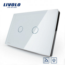 LIVOLO Dimmer Remote Touch Wall LIght Switch VL-C302DR-81/82  2 Gang