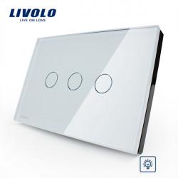 LIVOLO Dimmer Touch Wall LIght Switch VL-C303D-81/82 3 Gang