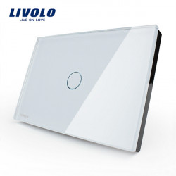 LIVOLO Glas Touch Vägglampa Switch VL-C301-81 / 82 1 Gang