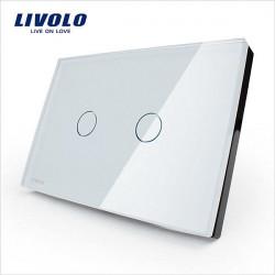 LIVOLO Glass Touch Wall LIght Switch VL-C302-81/82 2 Gang