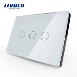 Livolo Glass Touch Wand Lichtschalter VL C303 81 / 82 3 Gang