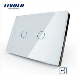 LIVOLO Mellanvägglampa Touch Switch VL-C302S-81/82 2 Gang