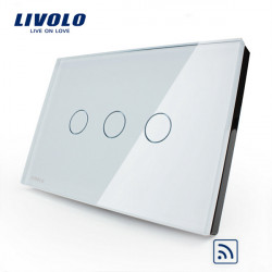 LIVOLO Smart Remote Touch Vägglampa Switch 3 Gang VL-C303R-81/82