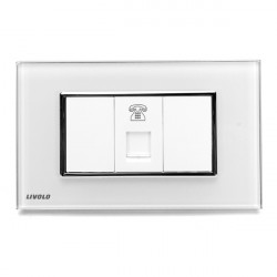 LIVOLO TEL Socket 1 Gang VL-391T-81/82 Glass Panel