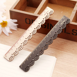 Lace Wooden Vintage Cute Stationery School Office Sewing Ruler