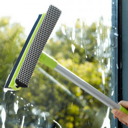 Lengthen Handle Removable Two-sided Glas Cleaner