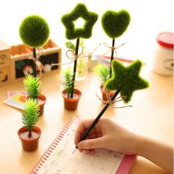 Schöne Grünpflanzen Topfform Kugelschreiber Kugelschreiber