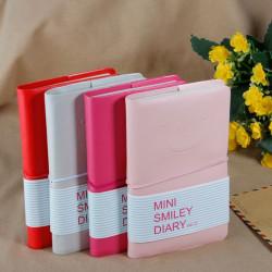 Schöne Mini Smiley Notizbuch Protokoll Leder Tagebuch Pocketbook