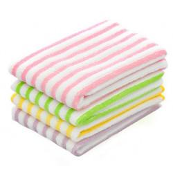 Micro Fiber Absorbent Striped Hutch Cleaning Dishcloth Dish Towel